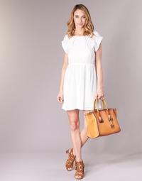 Υφασμάτινα Γυναίκα Κοντά Φορέματα Moony Mood INDI Άσπρο