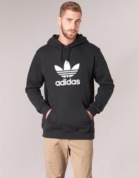 Υφασμάτινα Άνδρας Φούτερ adidas Originals TREFOIL HOODIE Black