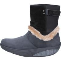 Παπούτσια Γυναίκα Μποτίνια Mbt Μπότες αστραγάλου AB217 Μαύρος