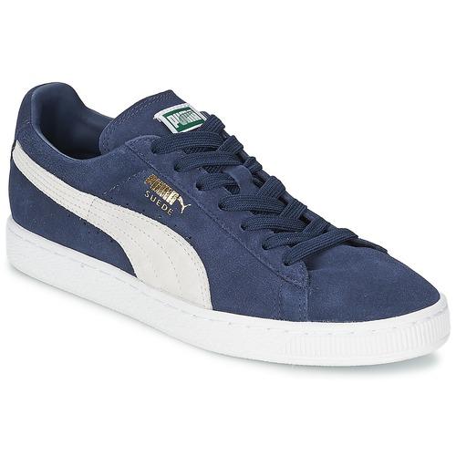 Παπούτσια Χαμηλά Sneakers Puma SUEDE CLASSIC Μπλέ / Άσπρο
