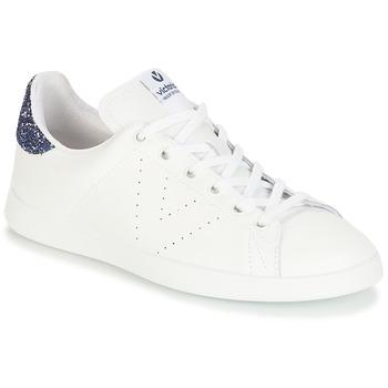 Παπούτσια Κορίτσι Χαμηλά Sneakers Victoria DEPORTIVO BASKET PIEL Άσπρο / Μπλέ