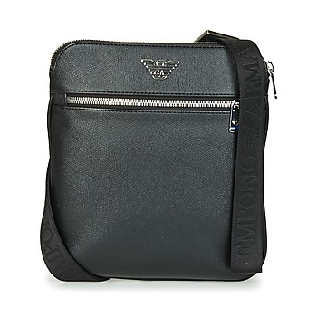 Τσάντες Άνδρας Pouch / Clutch Emporio Armani BUSINESS FLAT MESSENGER BAG Black