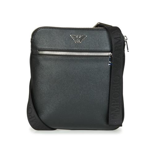 Τσάντες Άνδρας Pouch / Clutch Emporio Armani BUSINESS FLAT MESSENGER BAG Black