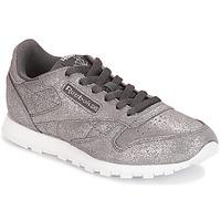 Παπούτσια Κορίτσι Χαμηλά Sneakers Reebok Classic CLASSIC LEATHER J Grey / Μεταλικό