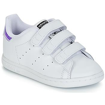 Παπούτσια Κορίτσι Χαμηλά Sneakers adidas Originals STAN SMITH CF I Άσπρο / Silver