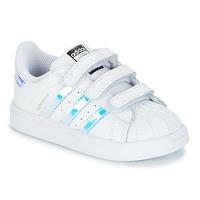 Παπούτσια Κορίτσι Χαμηλά Sneakers adidas Originals SUPERSTAR CF I Άσπρο / Silver