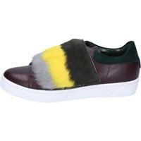 Παπούτσια Γυναίκα Sneakers Islo sneakers bordeaux pelle verde pelliccia BZ212 Multicolore