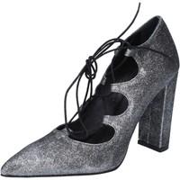 Παπούτσια Γυναίκα Γόβες Islo decolte argento glitter BZ216 Argento