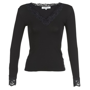 Υφασμάτινα Γυναίκα Μπλουζάκια με μακριά μανίκια Morgan TRACY Black