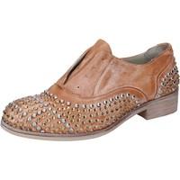 Παπούτσια Γυναίκα Derby Onako Κλασσικός BZ628 καφέ