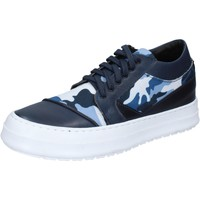 Παπούτσια Άνδρας Sneakers Fdf Shoes sneakers blu pelle tessuto BZ377 Blu