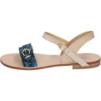 Παπούτσια Γυναίκα Σανδάλια / Πέδιλα Calpierre sandali blu pelle BZ838 Blu