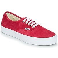 Παπούτσια Γυναίκα Χαμηλά Sneakers Vans AUTHENTIC Red