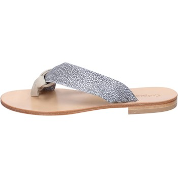 Παπούτσια Γυναίκα Σανδάλια / Πέδιλα Calpierre sandali grigio camoscio beige tessuto BZ880 Multicolore