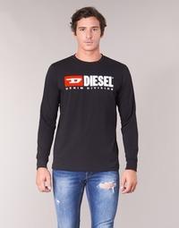 Υφασμάτινα Άνδρας Μπλουζάκια με μακριά μανίκια Diesel T JUST LS DIVISION Black