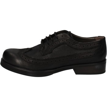 Derbies Crime London classiche nero pelle AE323