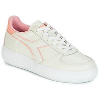 Παπούτσια Γυναίκα Χαμηλά Sneakers Diadora B.ELITE L WIDE WN Ecru / Ροζ