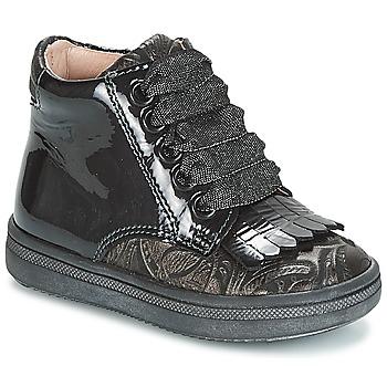 Παπούτσια Κορίτσι Ψηλά Sneakers Acebo's DOLAGIRI Black / Silver