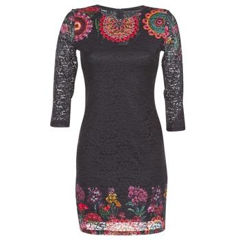 Υφασμάτινα Γυναίκα Κοντά Φορέματα Desigual DARINA Black