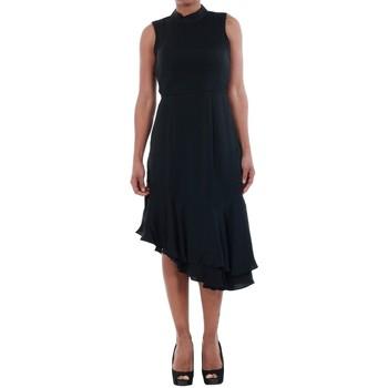 Υφασμάτινα Γυναίκα Φορέματα Vero Moda 10193254 VMKYLIE SL FRILL KNEE DRESS BLACK Negro