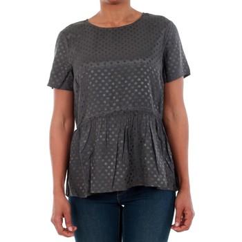 T-shirt με κοντά μανίκια Vero Moda 10191474 VMISOLDE TIE S/S TOP SB2 ASPHALT [COMPOSITION_COMPLETE]