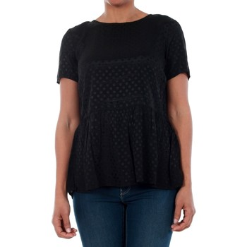 T-shirt με κοντά μανίκια Vero Moda 10191474 VMISOLDE TIE S/S TOP SB2 BLACK [COMPOSITION_COMPLETE]