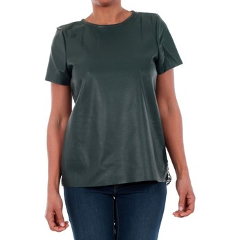 T-shirt με κοντά μανίκια Vero Moda 10188470 VMRINA LACE BUTTER S/S TOP LCS GREEN GABLES [COMPOSITION_COMPLETE]