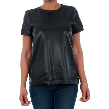 T-shirt με κοντά μανίκια Vero Moda 10188470 VMRINA LACE BUTTER S/S TOP LCS BLACK [COMPOSITION_COMPLETE]