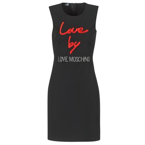 Υφασμάτινα Γυναίκα Κοντά Φορέματα Love Moschino CARININA Black