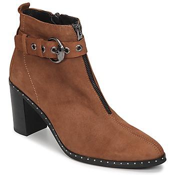 Παπούτσια Γυναίκα Μποτίνια Philippe Morvan AXEL V4 CHEV VEL Camel