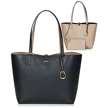 Τσάντες Γυναίκα Cabas / Sac shopping Lauren Ralph Lauren MERRIMACK REVERSIBLE TOTE MEDIUM Black / Taupe