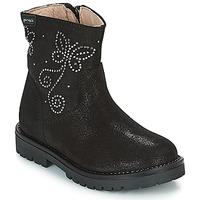 Παπούτσια Κορίτσι Μπότες Garvalin COSMOPOLITAN SERRAJE Black / Argenté