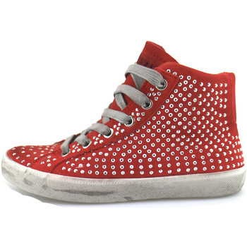 Ψηλά Sneakers Crime London sneakers rosso camoscio strass AH982