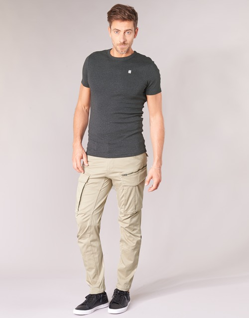 Υφασμάτινα Άνδρας παντελόνι παραλλαγής G-Star Raw ROVIC ZIP 3D STRAIGHT TAPERED Beige