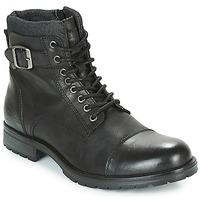 Παπούτσια Άνδρας Μπότες Jack & Jones ALBANY LEATHER Black