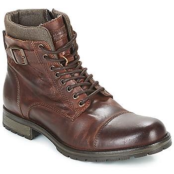 Παπούτσια Άνδρας Μπότες Jack & Jones ALBANY LEATHER Brown