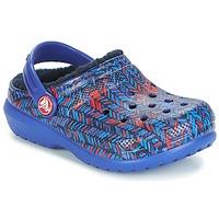 Παπούτσια Παιδί Σαμπό Crocs CLASSIC LINED GRAPHIC CLOG K Μπλέ