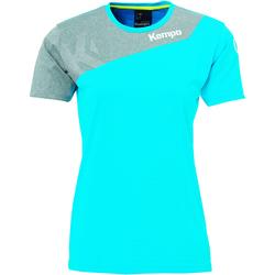 Υφασμάτινα Γυναίκα T-shirt με κοντά μανίκια Kempa Maillot femme  Core 2.0 bleu flash/gris