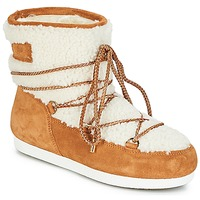 Παπούτσια Γυναίκα Snow boots Moon Boot FAR SIDE LOW SHEARLING Cognac / Άσπρο