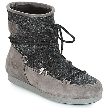 Παπούτσια Γυναίκα Snow boots Moon Boot FAR SIDE LOW SUEDE GLITTER Black / Grey