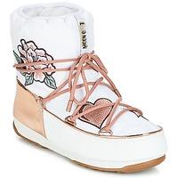 Παπούτσια Γυναίκα Snow boots Moon Boot PEACE & LOVE WP Άσπρο / Ροζ / Χρυσο