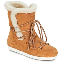 Παπούτσια Γυναίκα Snow boots Moon Boot FAR SIDE HIGH SHEARLING Cognac / Άσπρο