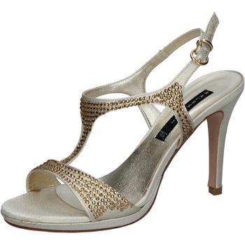 Σανδάλια Bacta De Toi sandali platino raso strass BY95