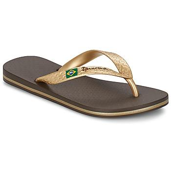 Παπούτσια Γυναίκα Σαγιονάρες Ipanema CLASSICA BRASIL II Brown / Gold