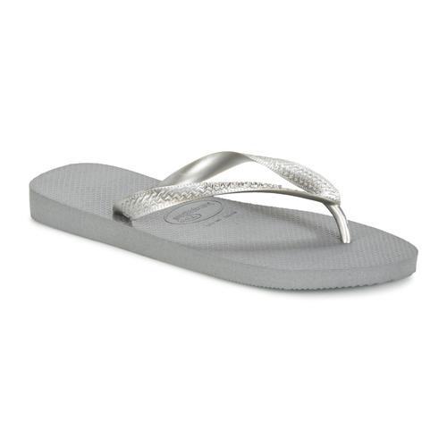 Παπούτσια Γυναίκα Σαγιονάρες Havaianas TOP METALLIC Grey / Acier