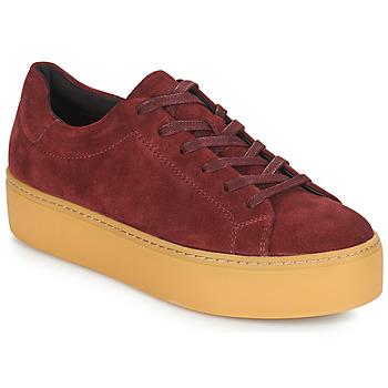 Παπούτσια Γυναίκα Χαμηλά Sneakers Vagabond JESSIE Bordeaux