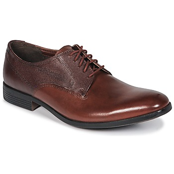 Παπούτσια Άνδρας Derby Clarks GILMORE British / Tan / Lea