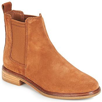 Παπούτσια Γυναίκα Μπότες Clarks CLARKDALE Camel