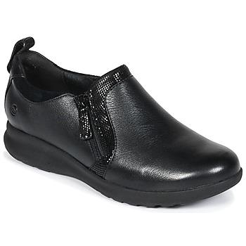 Παπούτσια Γυναίκα Derby Clarks Un Adorn Zip Μαυρο / Combi