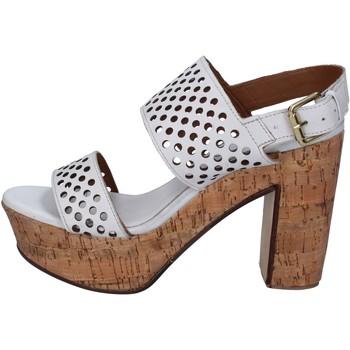 Σανδάλια Shocks sandali bianco pelle BY394